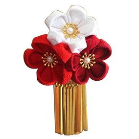 Hecho A Mano Exquisito Estilo Japonés Kimono Pelo De La Flor