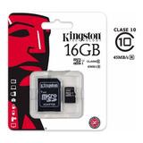 Memoria Micro Sd Kingston 2 En 1 16gb Clase 10