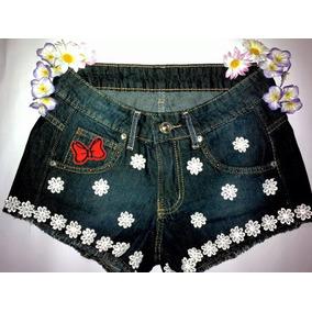 Shorts Customizados Jeans Cintura Alta