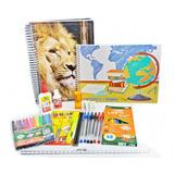 Kit Material Escolar Básico Completo
