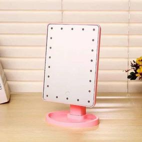 Espelho De Mesa Luz Led Em Volta P/maquiagem Portátil 22 Led