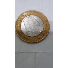 01 Real - Moeda Comemorativa Dos 40 Anos Banco Central