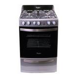 Cocina A Gas Whirlpool Wfx56dg 4 Hornallas Acero Inox **3