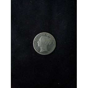 Moeda 1 Shilling 1871, Queen Victoria Silver