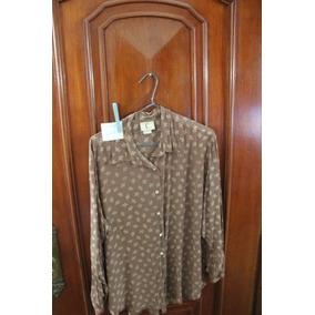 = Roupa Lote 626 Mulher Camisa Social Chocolate 8 Flor De Li
