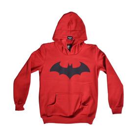 Liquidacion Sudadera Niño Batman Rojo