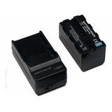 Cargador + Pila Bateria Np-f970 Para Lampara Led Para Video