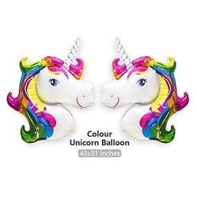 Unicornio Del Arco Iris Globos Partido Del Unicornio Accesor