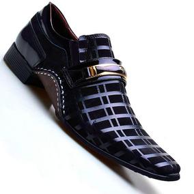 Sapato Social Masculino Calvest Em Couro Legítimo Marinho