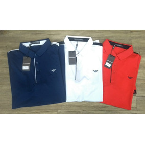 Camisa Polo Emporio Armani - Pólos Manga Curta Masculinas no Mercado ... 08a0a3a86ab90
