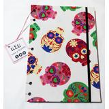 Cuaderno A4 Calaveras Costura Copta 80 Hjs Edición Limitada