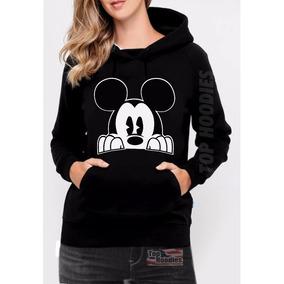 Moletom Feminino Mickey Espiando Mouse Swag Casual Canguru a63f089f8ee