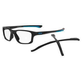 Armação Oculos Grau Oakley Crosslink Fit 8136 0155 Preto Fos e5e5e99226