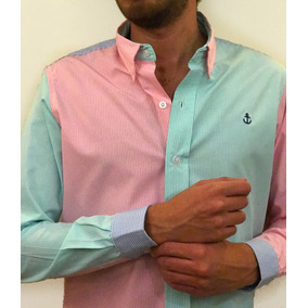 Camisa 3 Colores #1 (frente Rosa/menta)