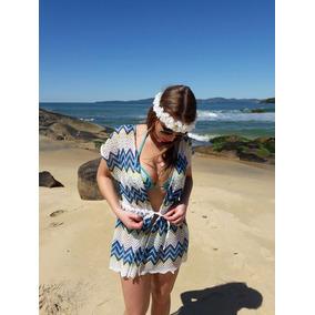 Saída De Praia Crochê Renda Bordado, Tamanho Unico