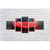 Quadro Decorativo Carro Ferrari Mosaico Com 5 Pçs 001ef 2346bccc3dd