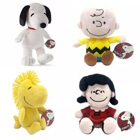 Pelúcia Turma Do Snoopy Dtc Kit 4 Personagens Original