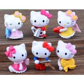 6 Figuras De Pvc De Colección De Hello Kitty
