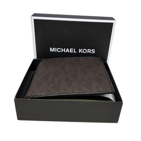 Michael Kors Men Cartera Jet Set C/ Bolsillo Monedas, Cafe