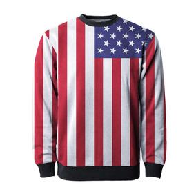 3fa04c8703 Blusa Moletom Bandeira Estados Unidos Usa Eua America Tumblr