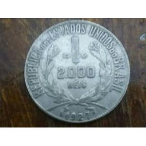 Linda Moeda 2000reis 1927 Mocinha