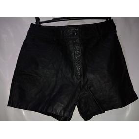 Shorts Feminino De Couro Legitimo Tm/36