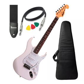 Guitarra Mod Fender Tagima Memphis Mg32 Branca Bag Cabo