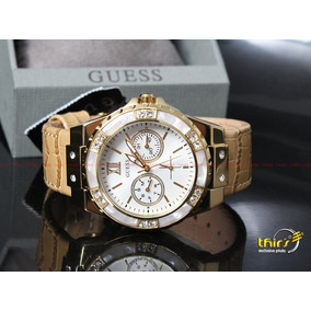 Relogio Guess Feminino W0775l2 Com Cristais - 40 Mm Original