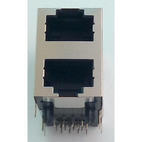 Conector Lan 2x1 Rj45-rede Blindado Duplo-lot 4p