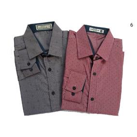 Camisa Social Masculina Slim Kit Com 2 Und Promoção Atacado c1de181a3ea