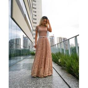 Vestido Longo Rendado - Moda Evangélica