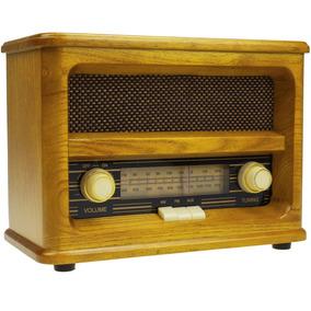 Replica Radio Am/fm Antigo Madeira Maciça Vintage R-203