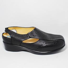 Calzado Sandalia Diabético Ancho Suave Negro Bio Shoes Suave