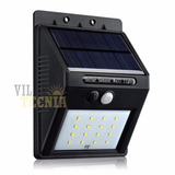 Lampara Solar Sensor Movimiento 20 Leds Luz De Seguridad 2pz