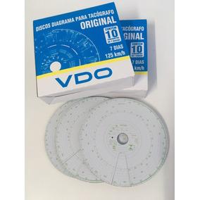 10 Cx Disco De Tacógrafo 125 Km Semanal Vdo Original