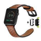 Pulseira Apple Watch Couro Genuíno Iwatch 42mm + Case