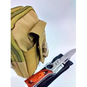 Bolsa Militar Tactica De Cintura + Navaja Venom Forma Rifle