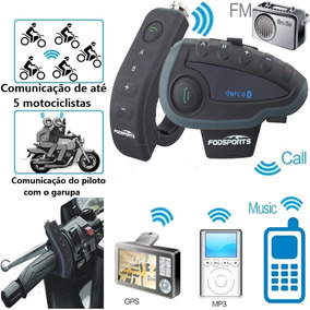 Intercomunicador Para Motocicleta V8 Bluetooth Capacete Mp3