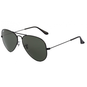 Óculos Ray-ban Rb3025 Aviador Original Preto Lentes Pretas 642affb7b7