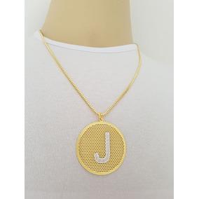 Corrente Ouro 18k Com Letra J - Joias e Relógios no Mercado Livre Brasil 80b4da3eca