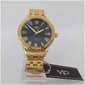 188e614f6f1 Relógio Vip Feminino Mm1303 Dourado Original Luxo Pronta Ent