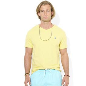 c0f76d7073924 Camiseta Polo Ralph Lauren Masculina - Gola V - Tam  P - P5