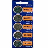 Batería Monedas Sony Cr2032 3v Litio 2032 Paquete X 5