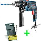 Taladro Percutor Bosch Gsb 13 Re 650w + Kit 6 Mechas