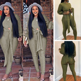 Mujeres Dos Pieza Set Cosechado Superior Pantalones Glitter