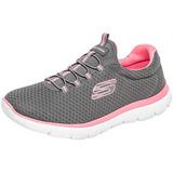 Bonitos Y Cómodos Tenis Skechers Originales Color Gris/rosa
