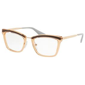 Óculos De Grau Prada Pr 15uv Kof1o1/50 Marrom/rosa Antigo