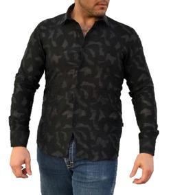 Oferta Camisa Barabas Caballero B52 Negra Slim Fit El Chapo