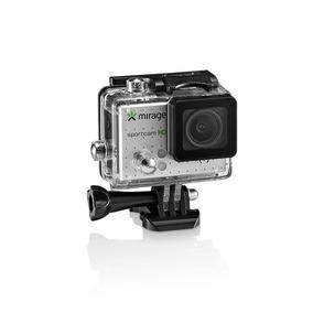 Câmera De Ação Sport Hd 5mp+ Cartão 16gb Prata Mirage Mr3000