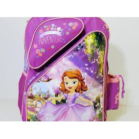 Kit Mochila Escolar Infantil De Rodinhas Princesa Sofia 2018